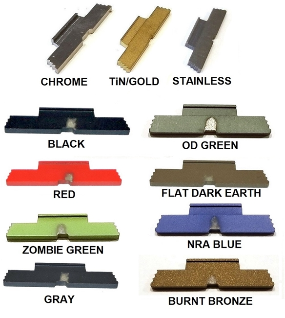 CENTENNIAL DEFENSE SYSTEMS Extended Slide Lock Lever TiN Coated For Glock  G42/43